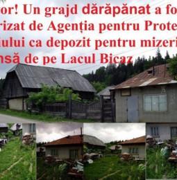 ULUITOR! Un grajd dărăpănat a fost autorizat de Agenția pentru Protecția Mediului ca depozit pentru mizeria strânsă de pe Lacul Bicaz