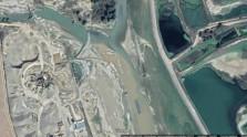 Imagini din satelit care îngrozesc. Garda de Mediu și Apele Române nu văd dezastrul produs de balastiere